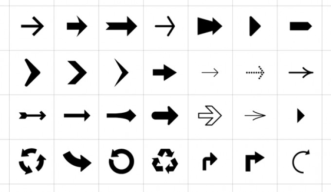 Arrow Symbols Icons Vectorish