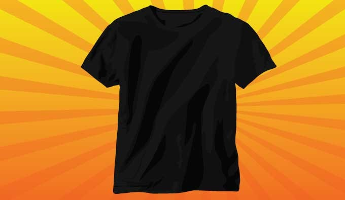 black t shirt vector - photo #18