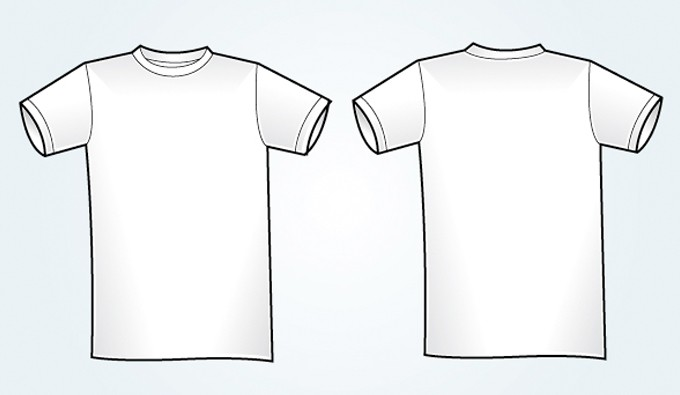 Blank White Vector T-shirt Template | Vectorish
