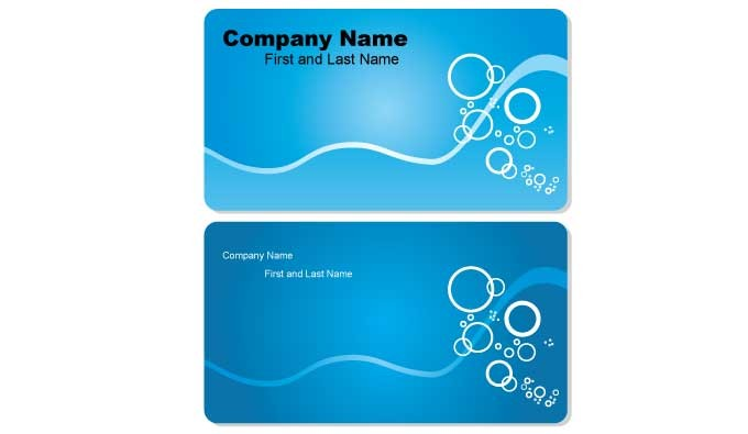 Blue business cards designs vectorish reheart Choice Image