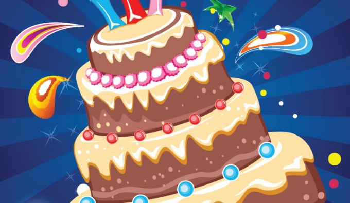 Birthday Cake Images Vektor ~ Party cake vector vectorish