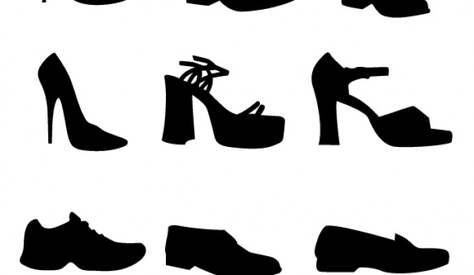shoe vectors silhouettes vectorish rh vectorish com victor shop vector shield
